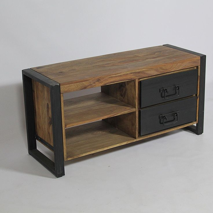 1000 ideas about meuble tv industriel on pinterest. Black Bedroom Furniture Sets. Home Design Ideas