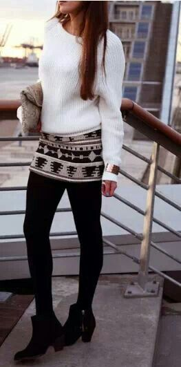 Winter style-- except the shoes