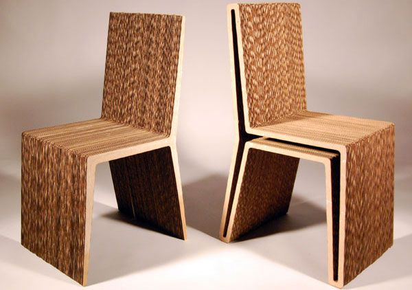 corrugated cardboard dining chairs