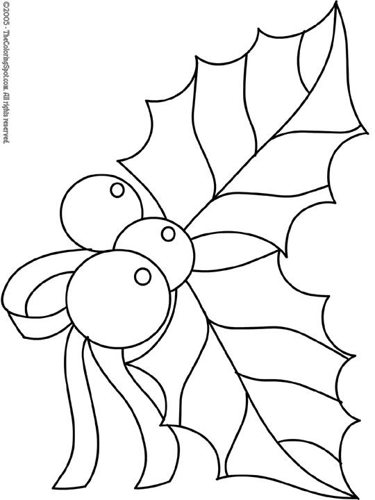 Christmas Coloring Pages | Christmas Holly 2 | Free printable coloring pages for kids | Coloring ...