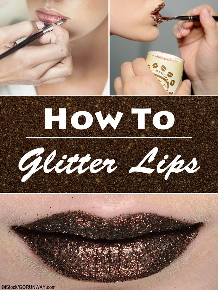 How To Glitter Lips - in diesem einfachen Glitzerlippen Tutorial zeigen wir euch, wie ihr ganz easy Glitzer auf eure Lippen bekommt