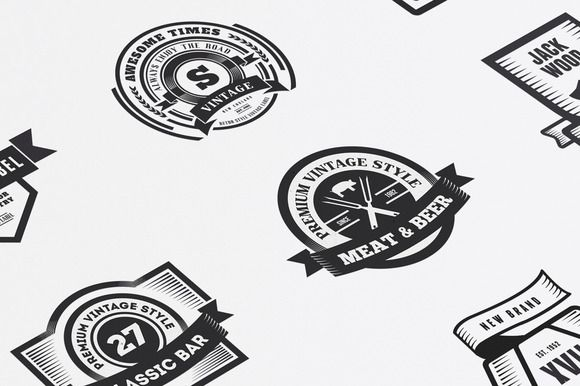 Check out 22 Vintage Templates, Badges, Logos by DesignDistrict on Creative Market