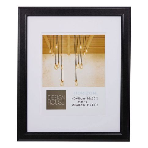 Design House Frame Horizon Black 40cm x 50cm Matt to 11in x 14in