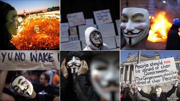 V for Vendetta masks: Who's behind them