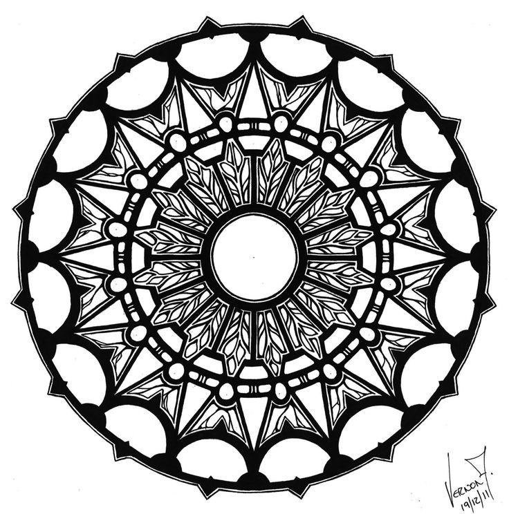by Vernon Fourie | mandala zendoodle zentangle zenart geometric geometry pen and ink