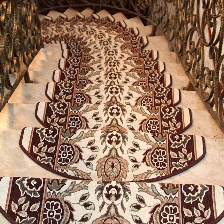 Best Keyama European Pastoral Style Acrylic Floral Carpet Stair 400 x 300