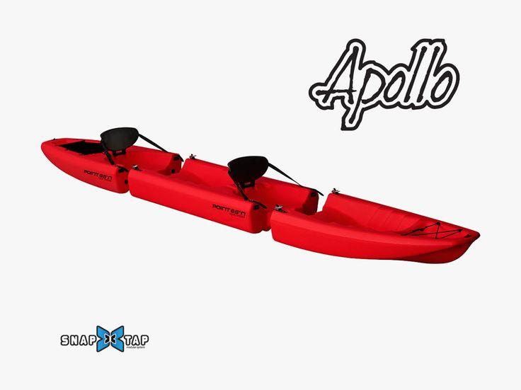 Das Apollo ist ein zerlegbares und robustes Sit-on-top Kajak.  Sit-on-top bedeutet, dass man oben auf dem Kajak sitzt und nicht in einer Lucke, wie bei den üblichen Kajaks.  Dies hat den großen Vorteil, dass man nicht eingeengt ist im Boot und leichter vom Wasser ins Boot steigen kann.  Das Apollo ist das perfekte Sit-on-top Kajak für kleine Paddel-Ausflüge, Spass auf dem See, Angeln und Relaxen.