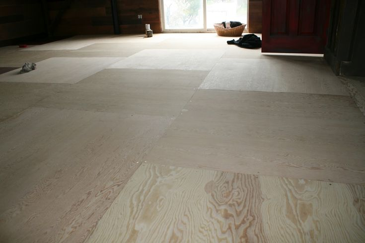 "Stained Plywood Flooring | ... Between Designs: I'm just ""floored"" over this one! Plywood floors"