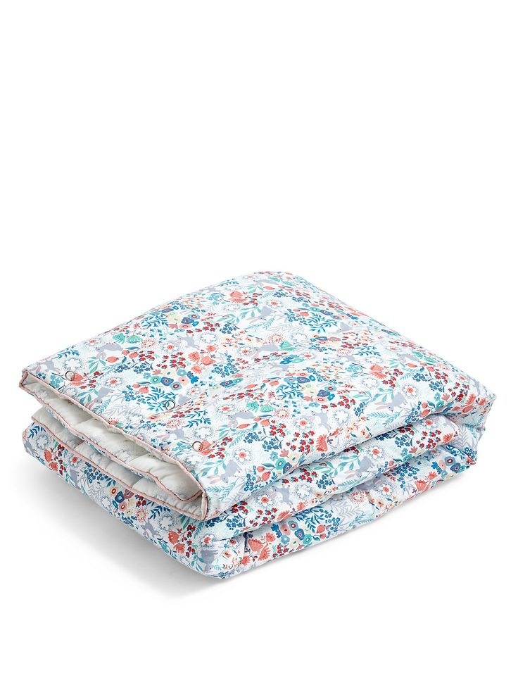 Floral Bunny Coverlet