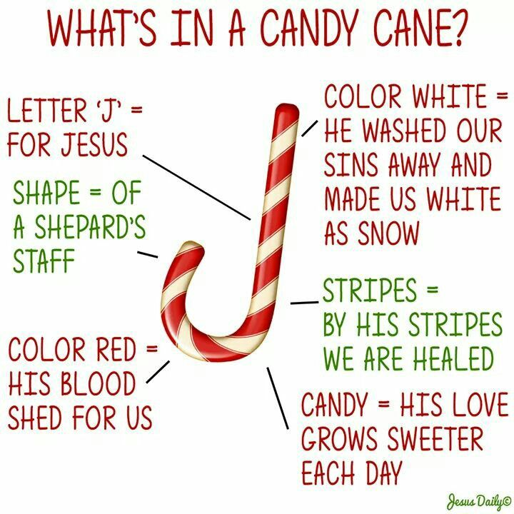 Legend of the candy cane Have candy canes for learning about Jesus birth or at Christmas party. It could work as a snack