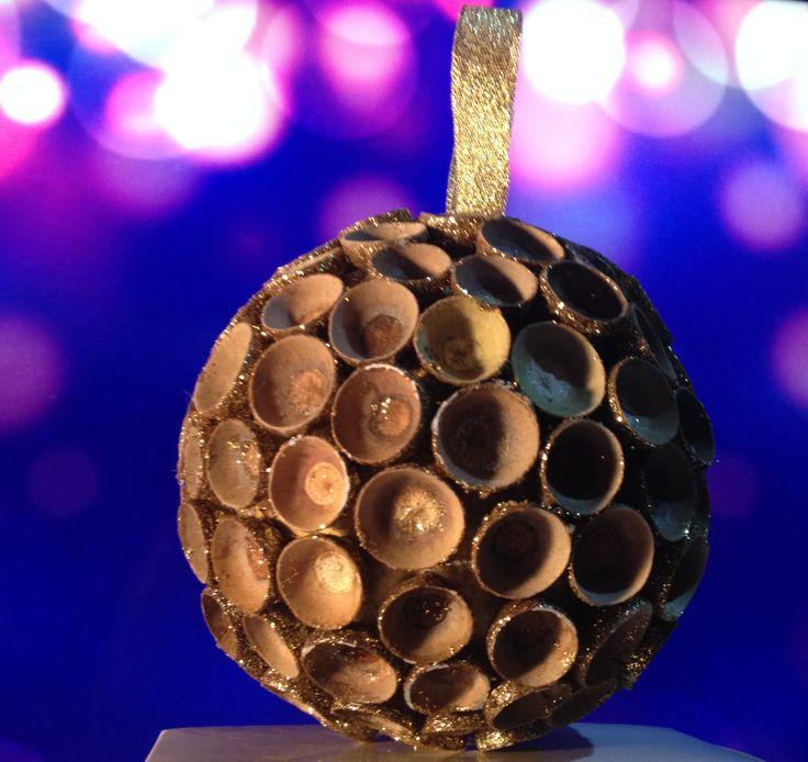 Boule de Noël doré