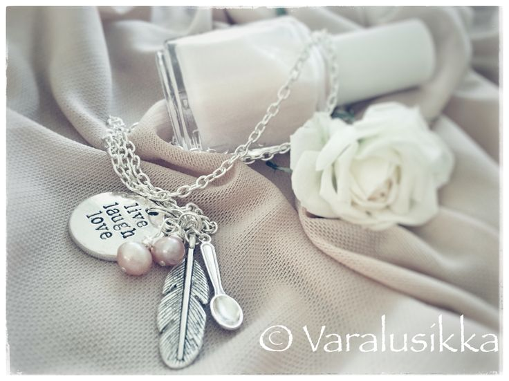 Varalusikka spoon necklace reminds you: live, love, and laugh!