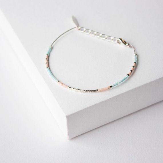 Bracelet jonc perles miyuki /