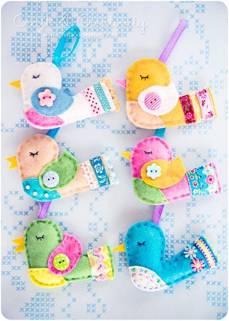 easter birds: Little Birds, Easter Crafts, Felt Patterns, Felt Birds, Christmas Ornaments, Christmas Ideas, Birds Crafts, Birds Patterns, Easter Birds