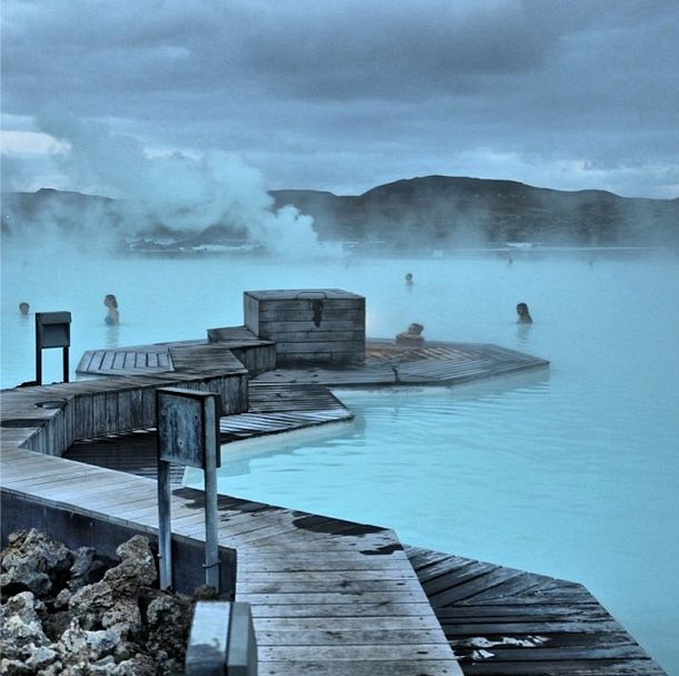 The Blue Lagoon,  Iceland.  Planning to go here on  our 5yr anniversary trip!