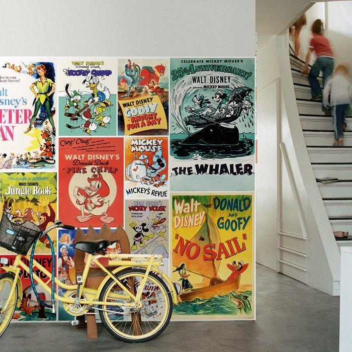 Digital Mural - Disney Vintage Boys Kids Decor by Graham and Brown