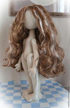 """Куклы и игрушки ручной работы. Ярмарка Мастеров - ручная работа Мастер-класс с выкройками """"кукла Эмилия"""" Часть 1 : Тело и причёска. Handmade."""