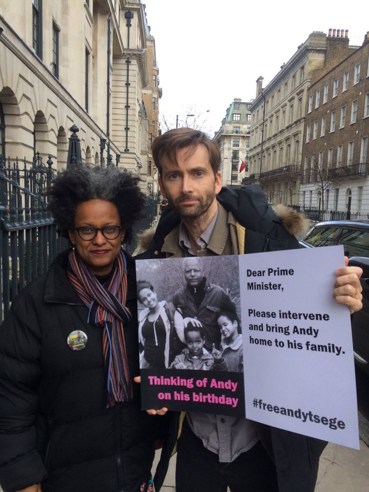 David Tennant Shows His Support For The Free Andy Tsege Campaign David Tennant has lent his support to the campaign to free Andy Tsege. Andy faces execution for his opposition to the authoritarian Ethi...