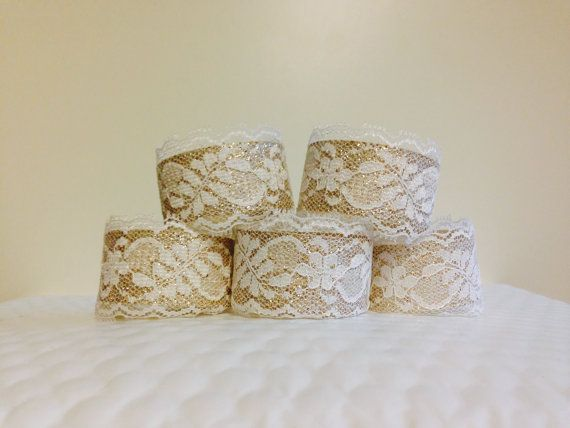 lace & gold napkin rings