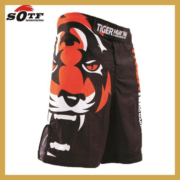 SOTF Tiger Muay Thai MMA shorts Boxing Fighting Sanda ropa boxeo bermuda pantalones cortos mma kick boxing wrestling