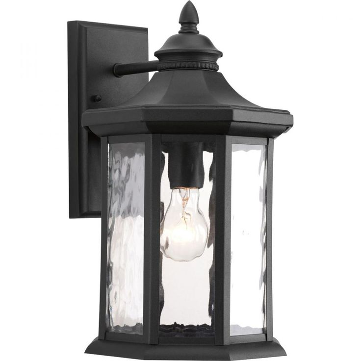 Progress lighting edition collection 9 inch black outdoor wall the home depot