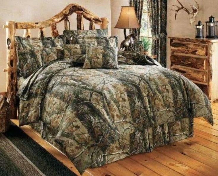 amazing camouflage bedroom decorations with impressive wood furniture and wood flooring equipped with camouflage bedding and