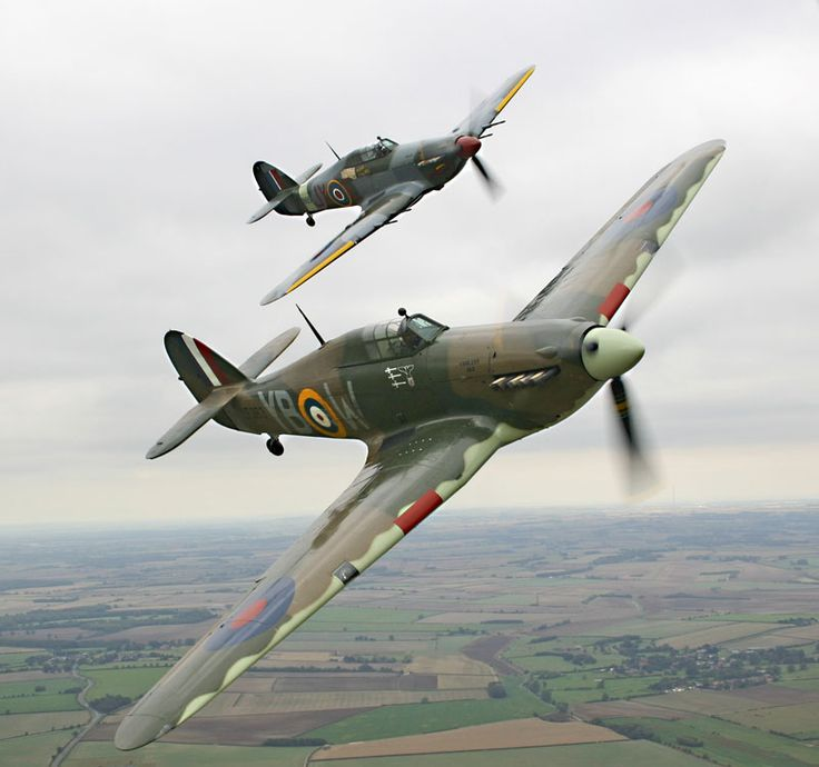 Both Battle of Britain Memorial Flight's Hurricane's today