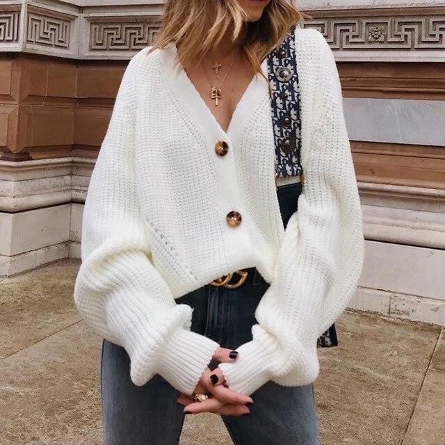Autumn Women Knitted Cardigans Long Sleeve Oversized Sweaters Winter  Fashion Plus Size … | Sweater winter fashion, Long sleeve cardigan  sweaters, Fall fashion coats