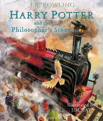 Harry Potter and the Philosopher's Stone by JK Rowling, illustrated by  illustrated by Jim Kay with paint, pencil and pixels, fizzing with magic and brimming with humour.