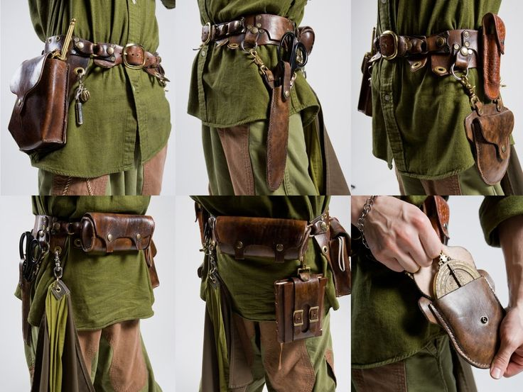 [Made by marcusstratus on deviantART] A medieval adventurer needs pouches. A bard can use his packs to carry books, journals, pens, ink, potions, and money.