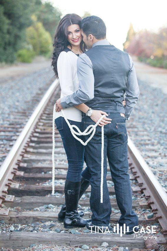 We're on Railroad Ties and we're Tying the Knot!  Make my love knot using thick white rope for under $5 and 3 safety pins to keep the shape in place.