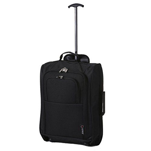 buy now   									£10.99 									  									 This cabin approved trolley bag is the perfect piece of luggage to take anywhere with you on your travels, with a lightweight and convenient 2 wheels design, you  ...Read More