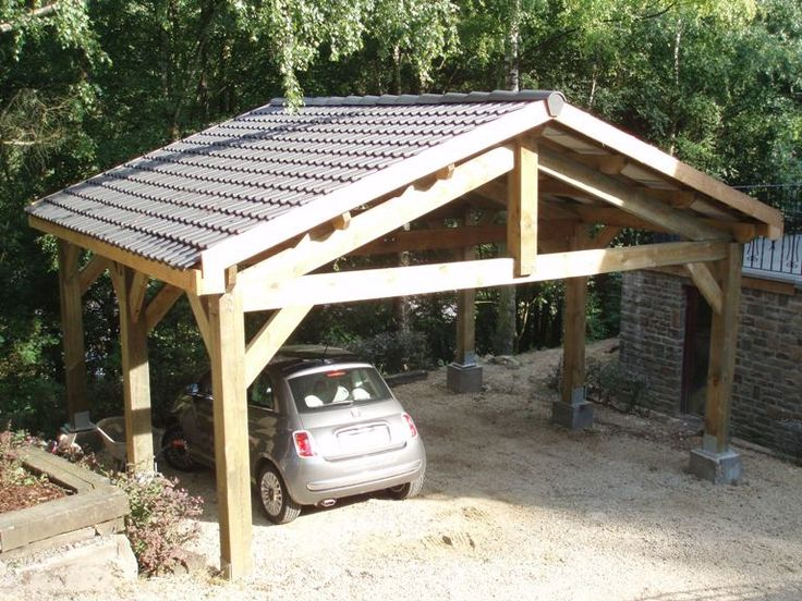 147 best carports garages images on pinterest decks for Rustic carport
