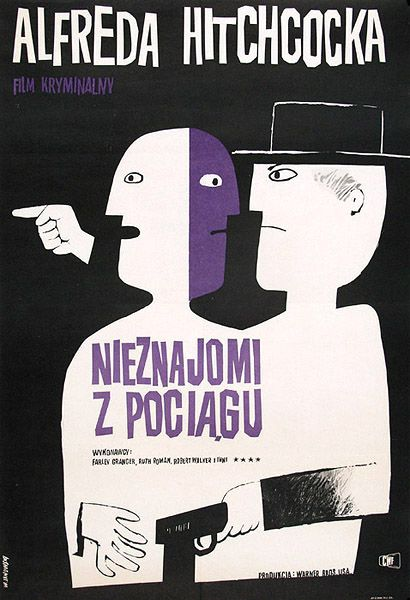 I like this foreign movie poster because it kind of has the Saul Bass design look. I also like how it looks like a bunch of cutouts were used.