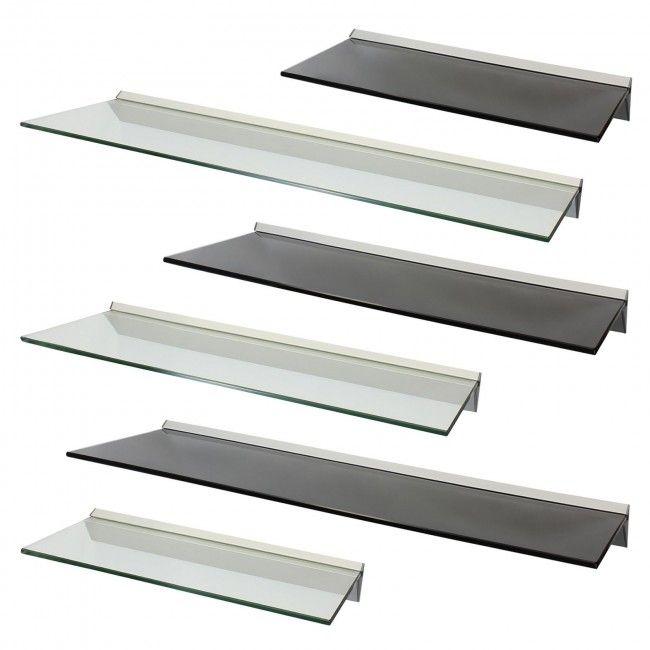 Hartleys Deep Floating Glass Wall Shelf