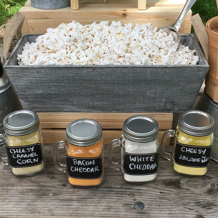 How To Make  A Killer DIY Popcorn Bar via @kernelseasons