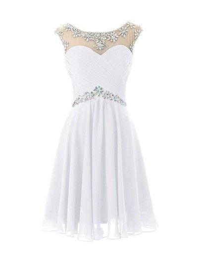 Round Neck Prom Dress