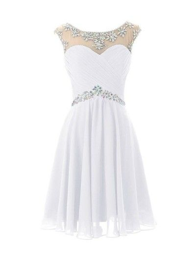 Round Neck Prom Dresses,Evening Dress, Beading Prom Dress ,Custom prom dress,A-line homecoming prom dresses L002
