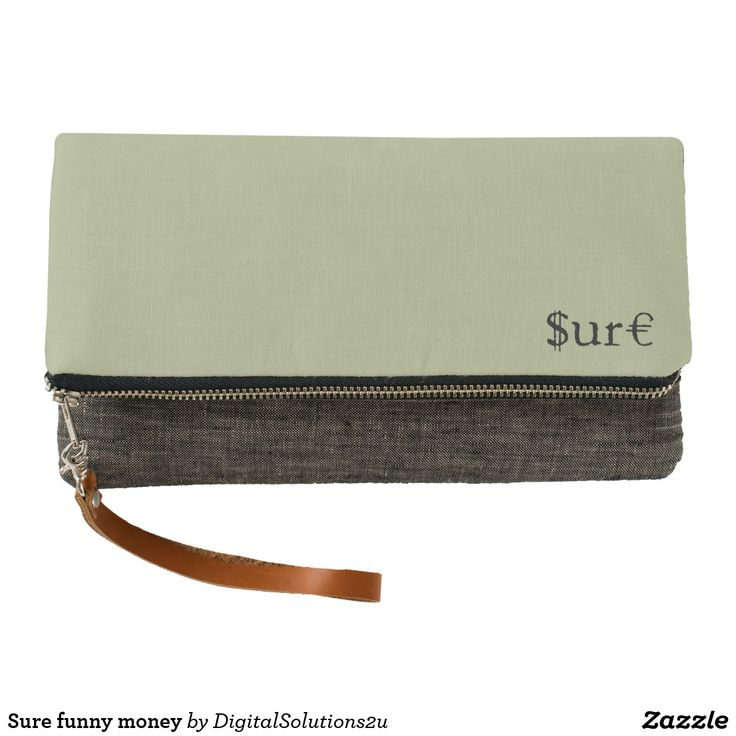Sure funny money clutch