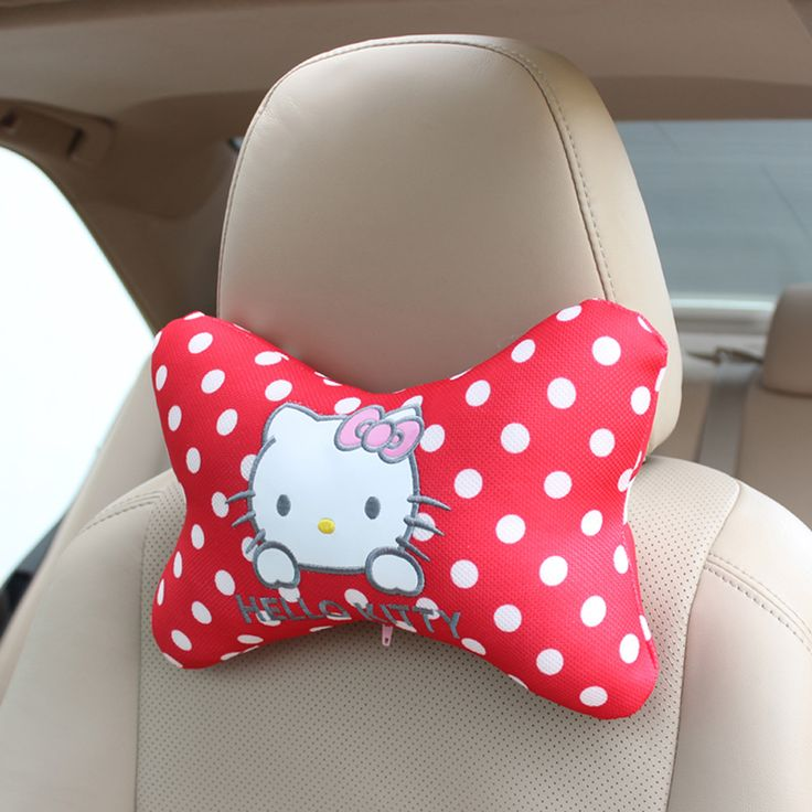 Hello Kitty Car Headrest //Price: $22.99 & FREE Shipping // World of Hello Kitty http://worldofhellokitty.com/one-pair-pink-hello-kitty-bowknot-car-styling-car-headrest-car-seat-accessories/    #toys