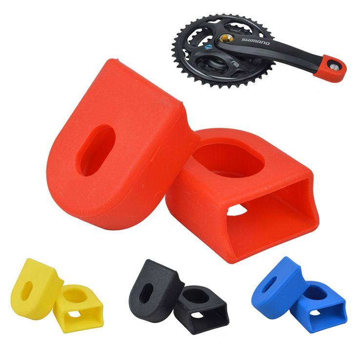 バイククランクセットクランク保護スリーブゴムカバー部品用マウンテンバイク道路自転車サイクリングドロップシッピング