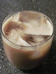 Homemade Tia Maria Liquer  1-1/2 cups strong espresso coffee  1-1/2 cups brown sugar, packed  1 split vanilla bean  1-1/2 cups good brandy