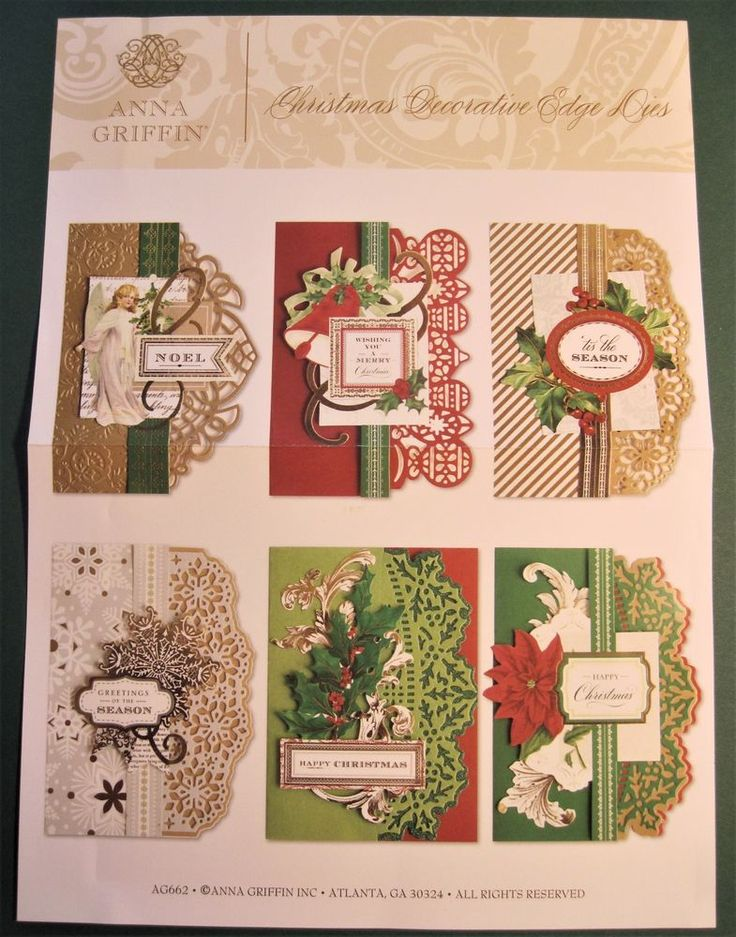 Anna Griffin Christmas Decorative Edge Dies (4) #AnnaGriffin