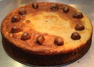Verrukkelijke, niet machtige en betrekkelijk eenvoudig te maken taart van tamme kastanjes. Met een bolletje mango-ijs is het helemaal niet te versmade