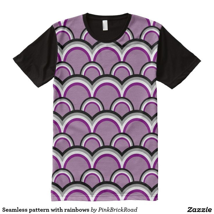Seamless pattern with rainbows All-Over print t-shirt