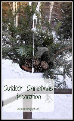 Upcyclelina: Outdoor Christmas decoration