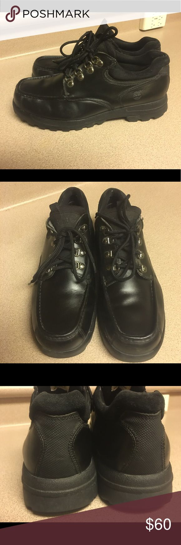TIMBERLAND 81036 Mens 10.5M Black  Leather Low Cut Pre-owned TIMBERLAND 81036 Men's 10.5M Black  Leather Low Cut Timberland Shoes