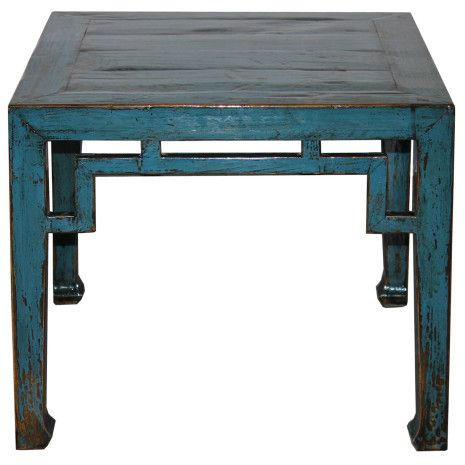 Place This Blue Shanxi Ming Table Next To Your Sofa. Itu0027s A Bright And Fun