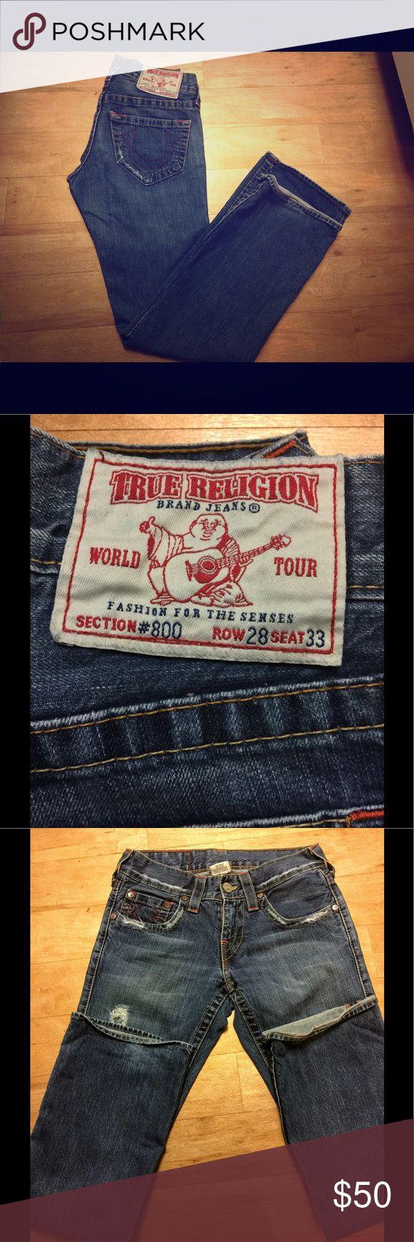 Men's Pre-2007 True Religion Jeans Nice pair of pre-2007 True Religion jeans with the old section, row, and seat numbers. True Religion Jeans Relaxed