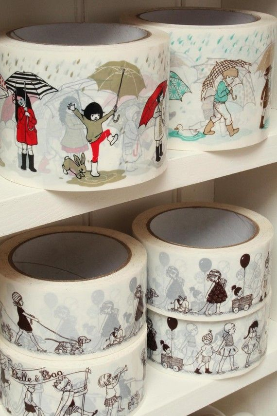 Paris Umbrella Sticky Tape. Imagine this on kraft paper warpping a gift. So cute!